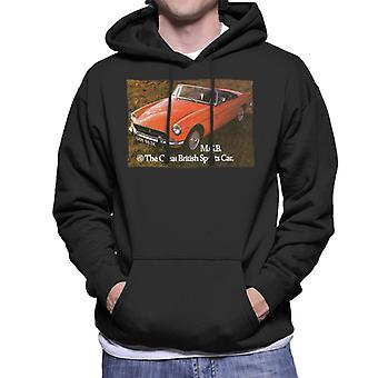 MG The Great British Sports Car British Motor Heritage Men's Hooded Sweatshirt