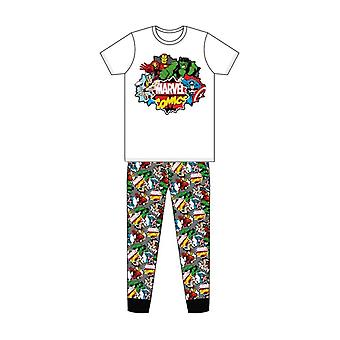 Men's Marvel Comics Classic Comic Book Print Pyjama Set