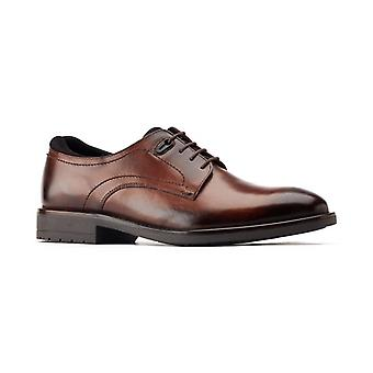 Base London Osprey Mens Leather Derby Shoes Brown