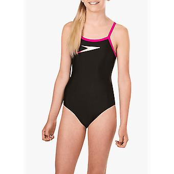 Speedo Girls Boom Placement Muscleback Yksiosainen uimapuku