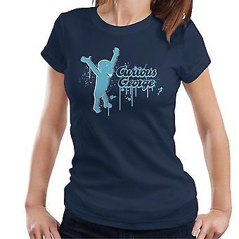 Neugierige George Paint Drip Logo Frauen's T-Shirt