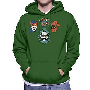 She-Ra Princess Of Power Character Heads Men's Hooded Sweatshirt