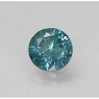 Cert 0.73 Karat Vivid Blue SI3 Runde brillant verbessert natürlichen Diamant 5,64 mm