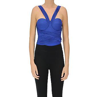 Elisabetta Franchi Ezgl026254 Naiset's Sininen Viskoosi Bodysuit