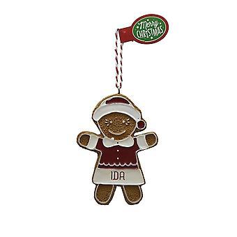 Figura de pan de jengibre IDA colgante árbol de Navidad