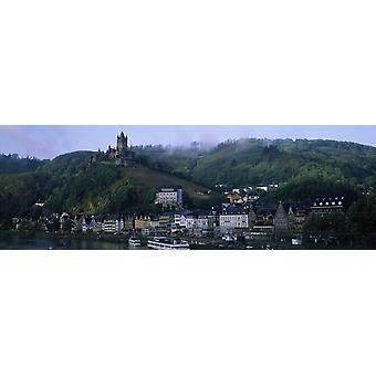 Burg auf einem Hügel Cochem Burg Mosel River Cochem-Zell Rheinland-Pfalz Deutschland Poster Print