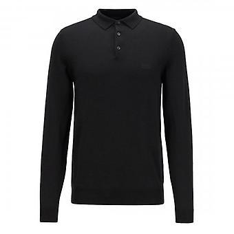 Hugo Boss Bono-L Fine Knit Polo Neck Jumper Black 50435429