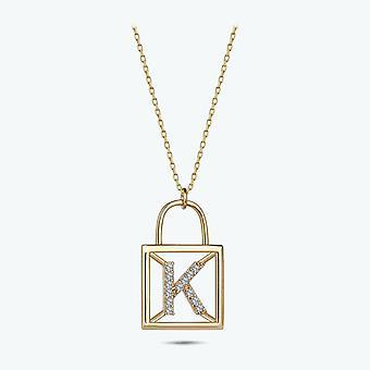 Bokstav K Guld Halsband
