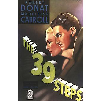 De 39 Steps Movie Poster Masterprint