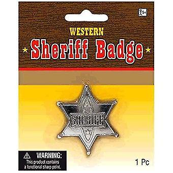 Amscan 840485 západní šerif odznak - 1 ks stříbro