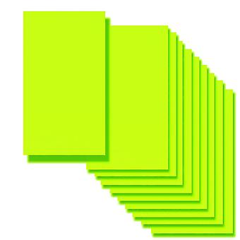 10 Flourescent Lime Card Inserts 180 x 128