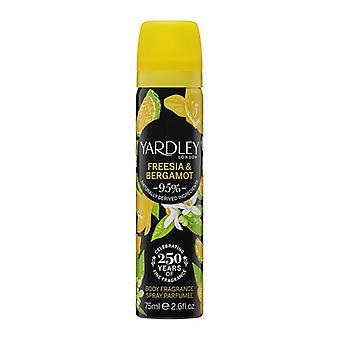 Yardley Freesia & Bergamot Deodorising Body Spray