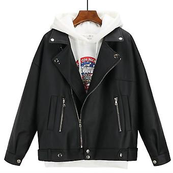Syksyn /talven nahkatakki Ylisizedfriend Korealainen tyyli Faux Coat Outwear
