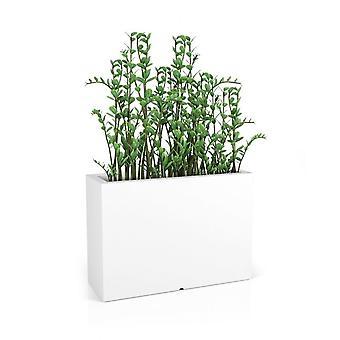 Pflanzer weiß - rechteckiger Blumentopf mit Beleuchtung