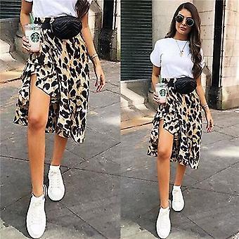 Γυναίκες Φούστα Leopard Εκτύπωση, Υψηλή Μέση, Κυρίες Βράδυ Κόμμα Μίνι Φούστες, Δαντέλα