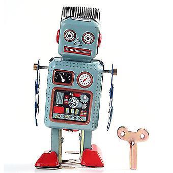 Bei wang óramű szél megjelöl fém séta robot ón játék retro vintage mechanikus gyerekek ajándék által bei wan