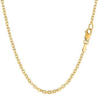 14 k Gelb Gold Kabel Link Kette Halskette, 2,3 mm