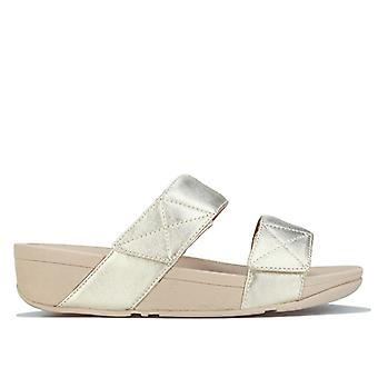 Women's Fit Flop Mina Slide Sandals in Gold