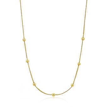 Ania Haie Sterling Silver Shiny Gold Plated Modern Beaded Necklace N002-03G