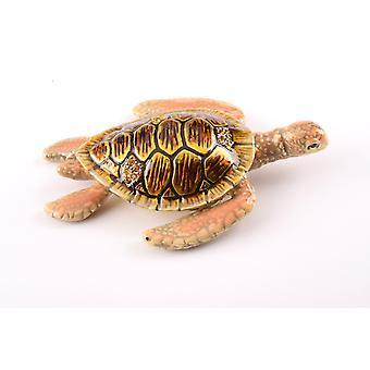 Brown Sea Turtle Trinket Box