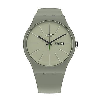 Swatch So29m700 We In The Khaki Now Green Plastic Watch