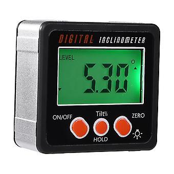 Electronic Protractor Digital Inclinometer, 0-360 Aluminum Alloy Digital Bevel