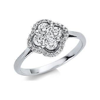 Luna Creation Promessa Ring Multiple Stone Trim 1U449W854-1 - Ring Width: 54