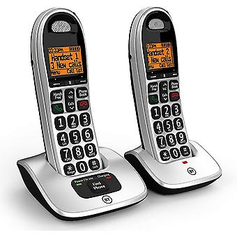 Cordless Big Button Phone with Nuisance Call Blocker - Pack of 2