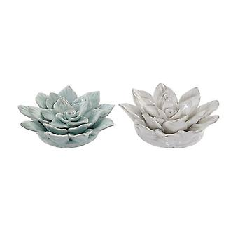 Wall Decoration Dekodonia Flower terracotta Traditional (2 pcs)
