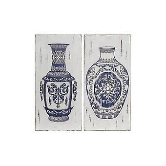 Wall Decoration Dekodonia Vase Oriental (2 pcs)