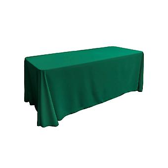 La Linen Polyester Poplin Rectangular Tablecloth 90 By 156-Inch, Teal