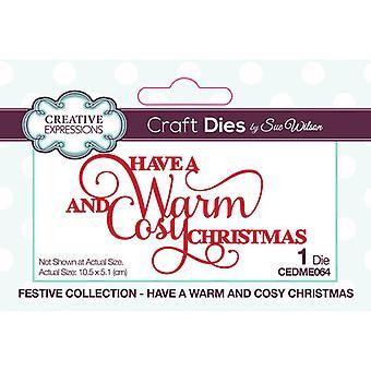 Expressões Criativas Natal - Coleção Festiva Cortando Morre - Tenha Um Natal Quente e Aconchegante