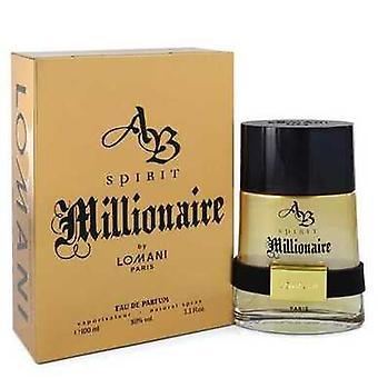 Spirit Millionaire Por Lomani Eau De Parfum Spray 3.3 Oz (hombres) V728-549016