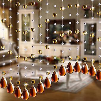 Rideau de perle en verre de cristal, salon, chambre à coucher, fenêtre, porte, décor de mariage