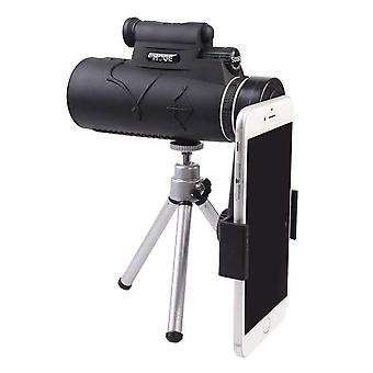 50X60 hd monocular zoom night vision telescope with lamp lighting and night laser hunting scopes spyglass for hunting camping