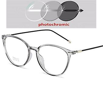 Transparent Nearsighted Spectacle Ultralight Steel Wire Leg Oval Prescription
