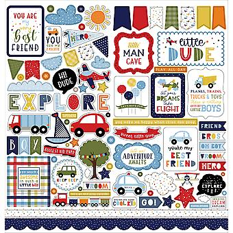 Echo Park Little Dreamer Boy 12x12 Inch Element Sticker