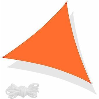 Skygge klud haven 3.5x3.5x3.5 m - have klud - terrasse udenfor - orange - trekant - vandafvisende