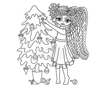 Polkadoodles Timbre clair - Angel Tree A6