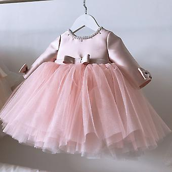 Pink Lace Baby Dresses, Birthday Party Wedding Clothing
