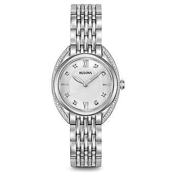 Bulova 96R212 Women's ساعة اليد الماسية الفضية