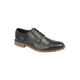 Lambretta Nolan Mens Leather Lace Up Brogue Shoes Black