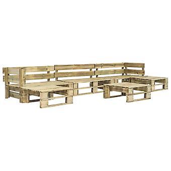vidaXL 6-pcs. Garden sofa set made of pallets wood