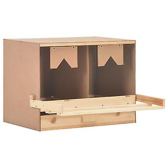 vidaXL Legend nest chicken nest 2 compartments 63 x 40 x 45 cm solid wood pine