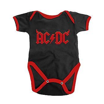 AC/DC Bebé Grow Horns Banda Logo nuevo Rojo Oficial 0 a 24 Meses