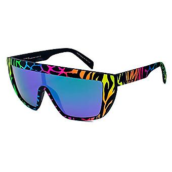 ITALY INDEPENDENT 0912-ZEF-149 Sunglasses, Multicolored (Amarillo/Green), 122.0 Unisex-Adult