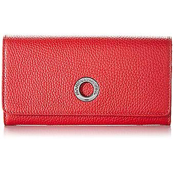 Mandarin Duck Mellow Leather Shoulder Strap, Women's Crossbody Bag, Red