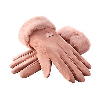 Femmes hivernent plein air Chaleur doigt plein gant de conduite doublé