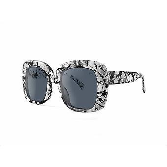Ruby rocks oversized monsterrat square sunglasses in marble