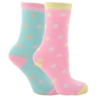 Mädchen 2 pk thermal gepunktete lässige Socken